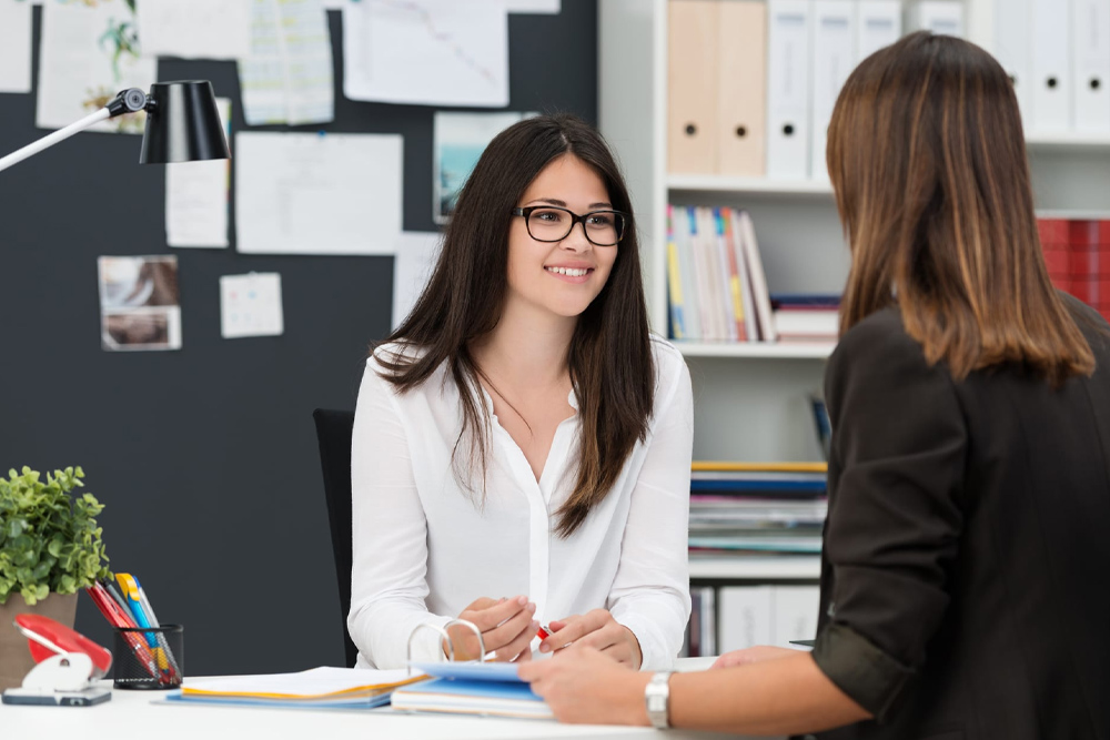 job interview with two women
